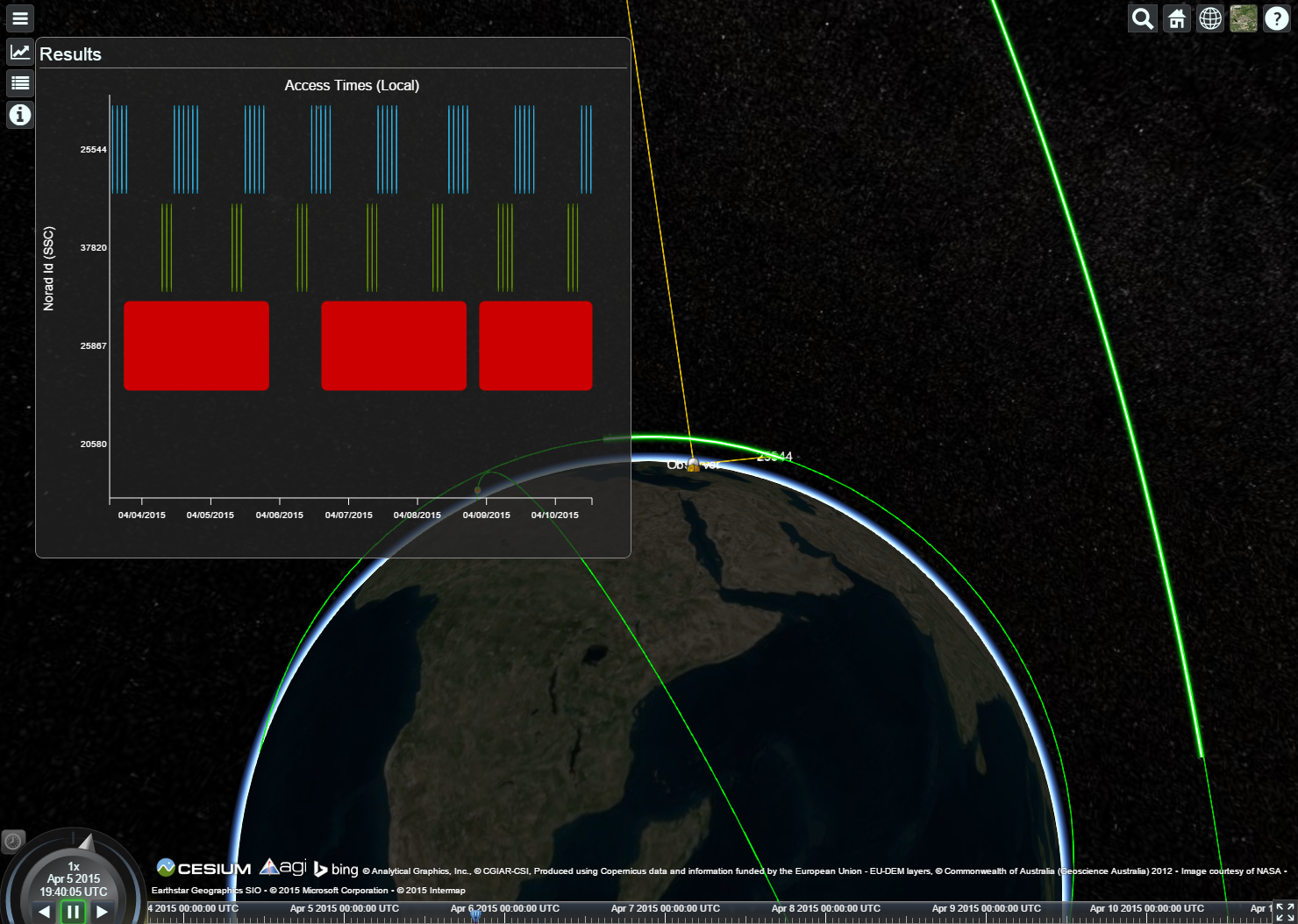 Satellite Demonstration Application